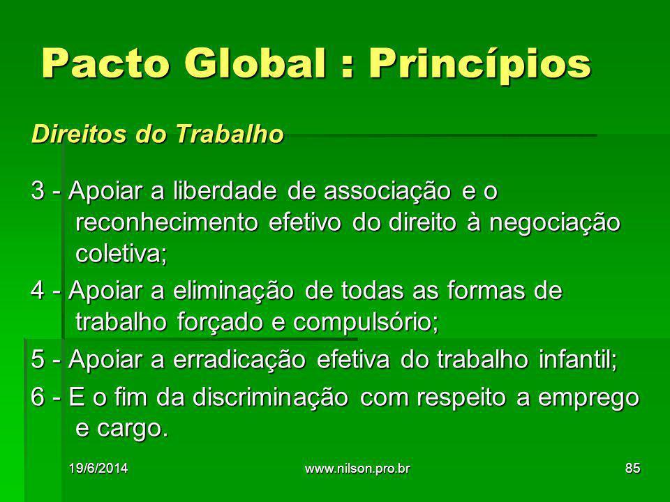 Pacto Global : Princípios