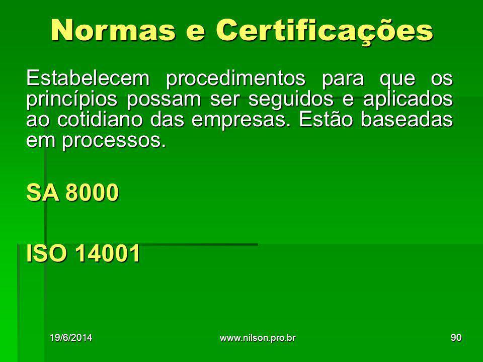Normas e Certificações
