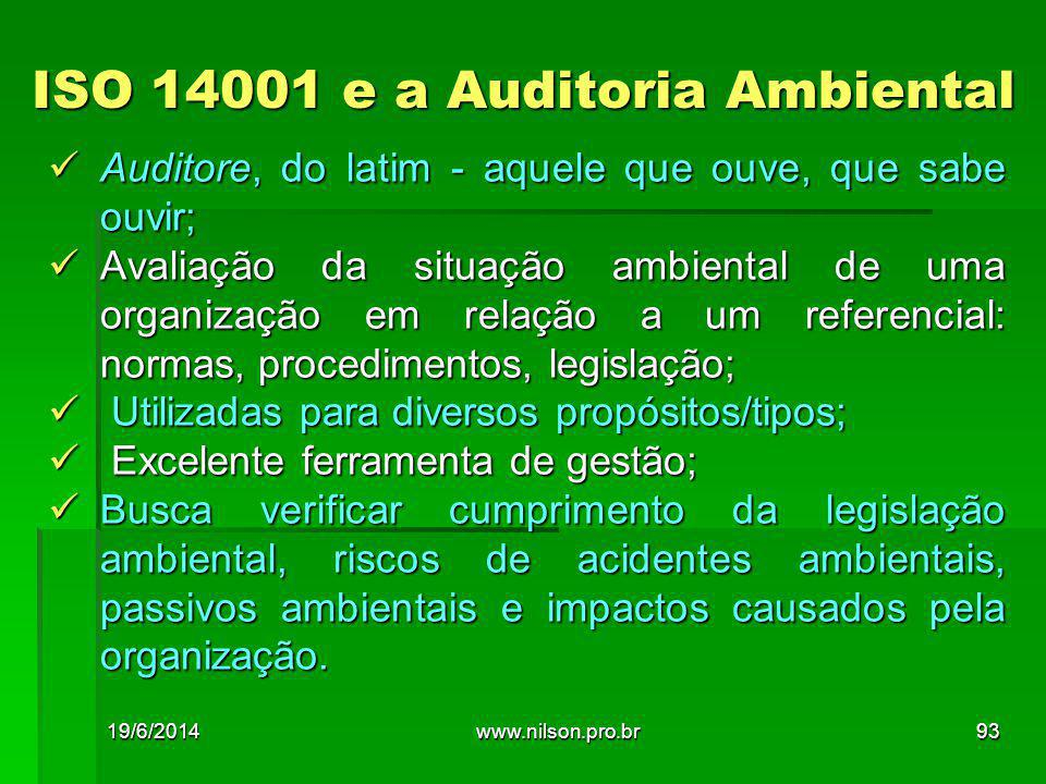 ISO 14001 e a Auditoria Ambiental