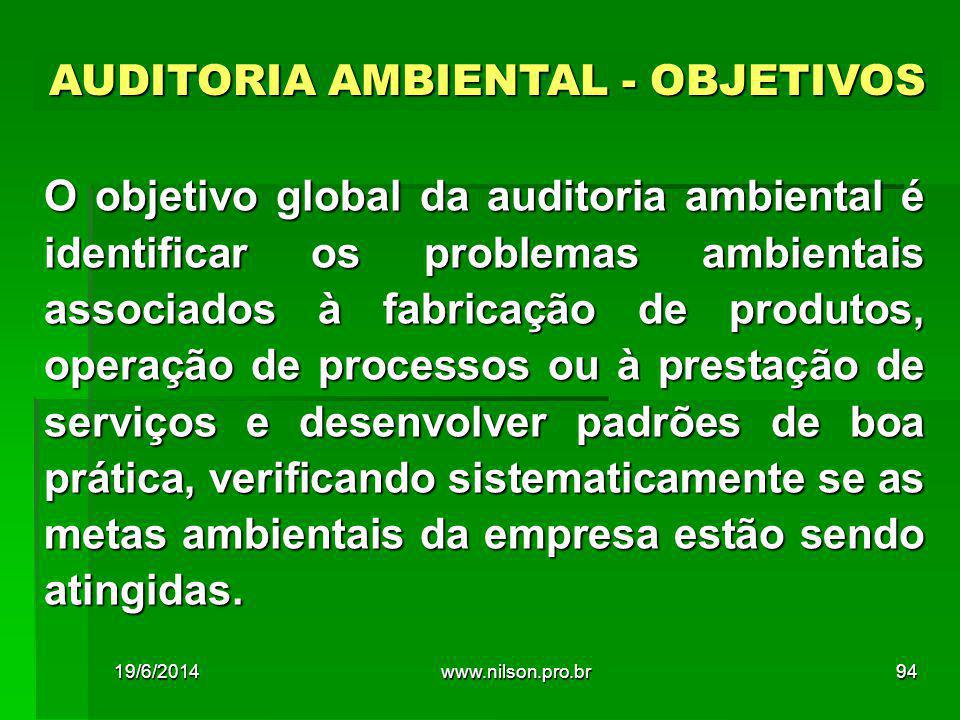 AUDITORIA AMBIENTAL - OBJETIVOS
