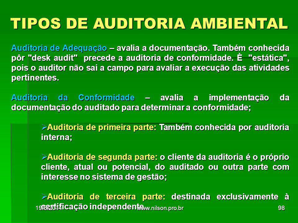 TIPOS DE AUDITORIA AMBIENTAL