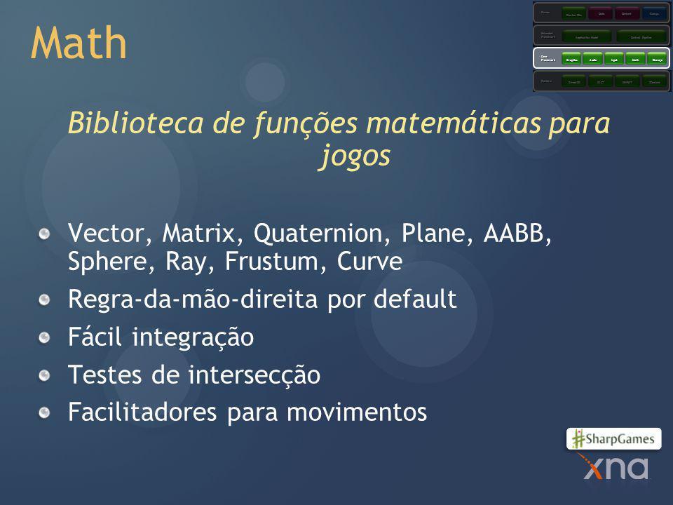 Biblioteca de funções matemáticas para jogos