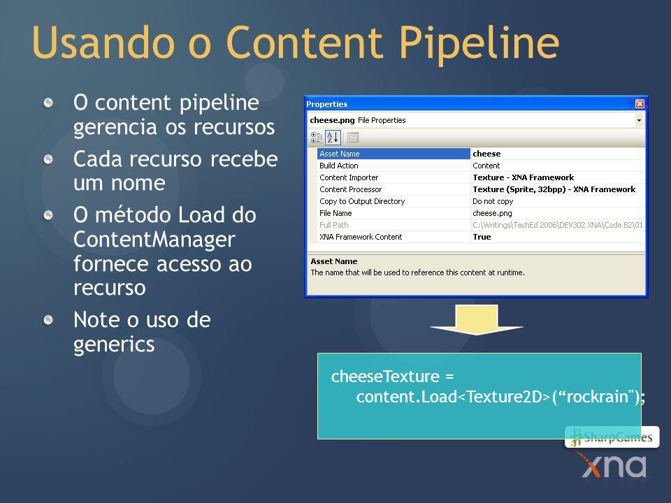 Usando o Content Pipeline