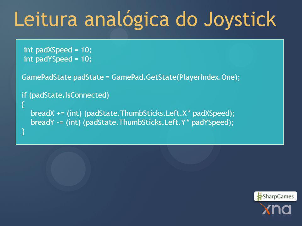 Leitura analógica do Joystick