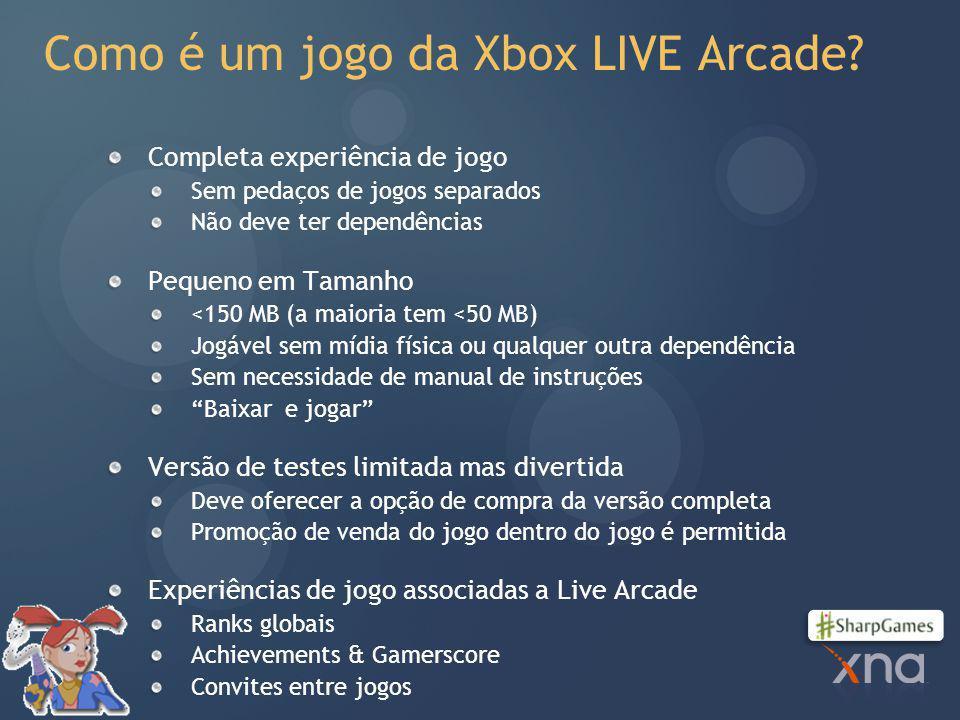 Como é um jogo da Xbox LIVE Arcade