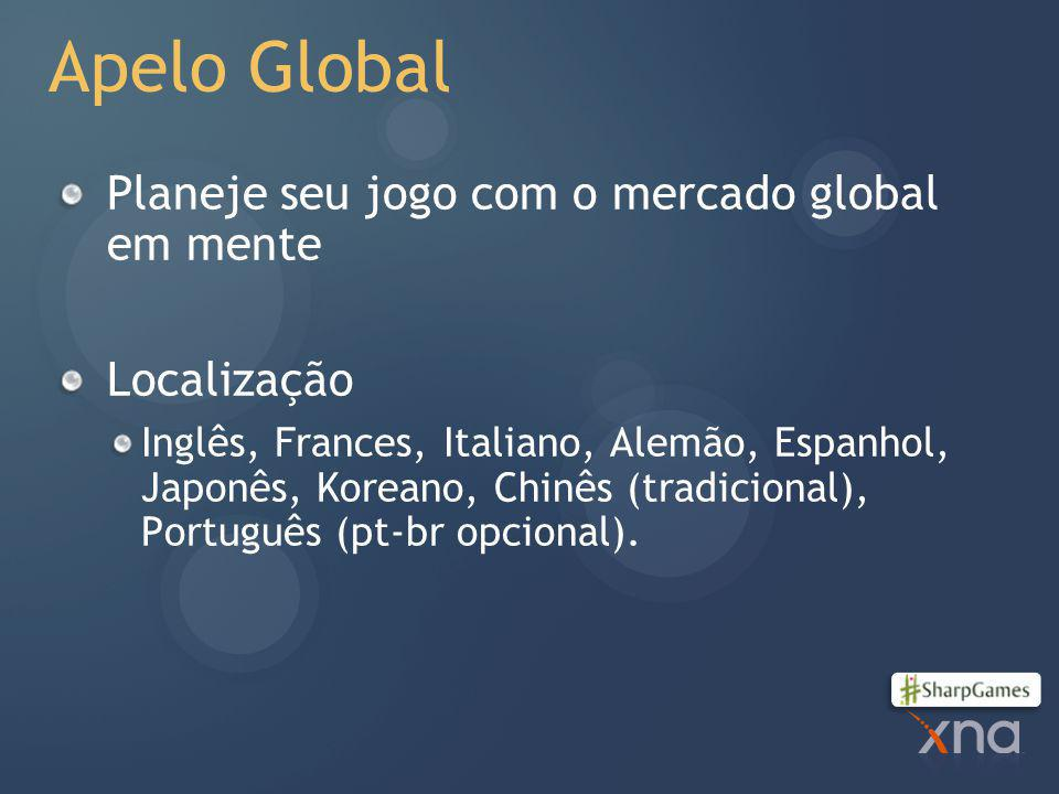 Apelo Global Planeje seu jogo com o mercado global em mente