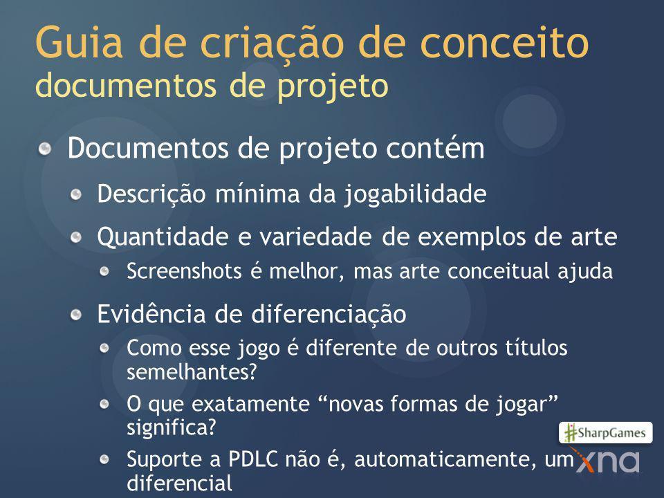 Guia de criação de conceito documentos de projeto