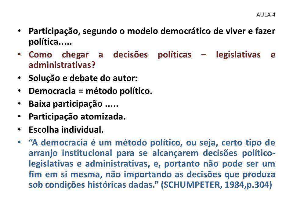 Como chegar a decisões políticas – legislativas e administrativas