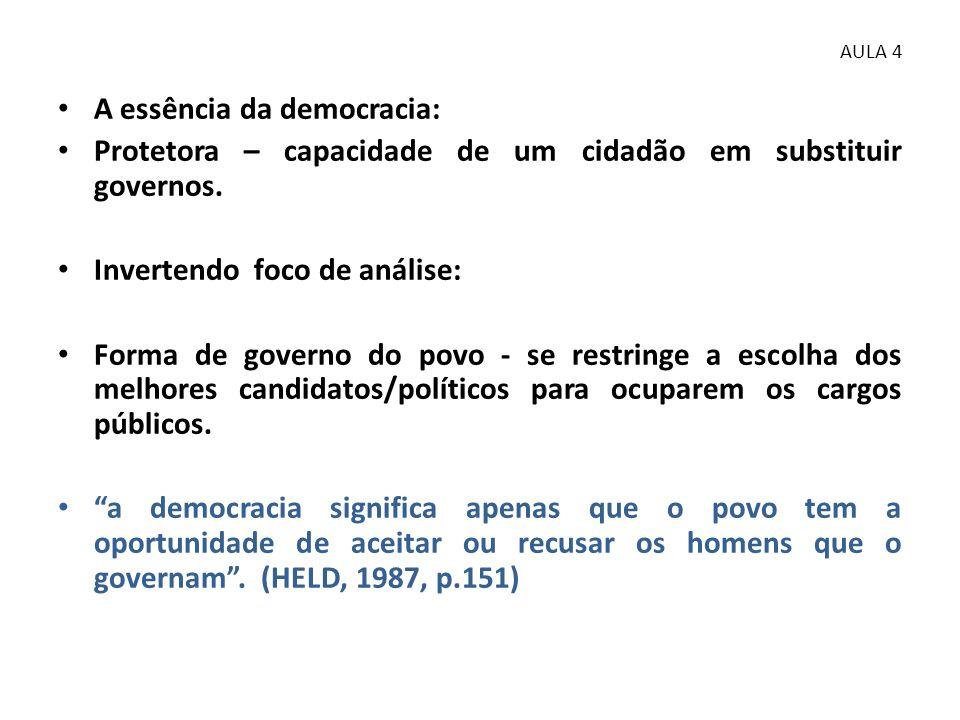 A essência da democracia: