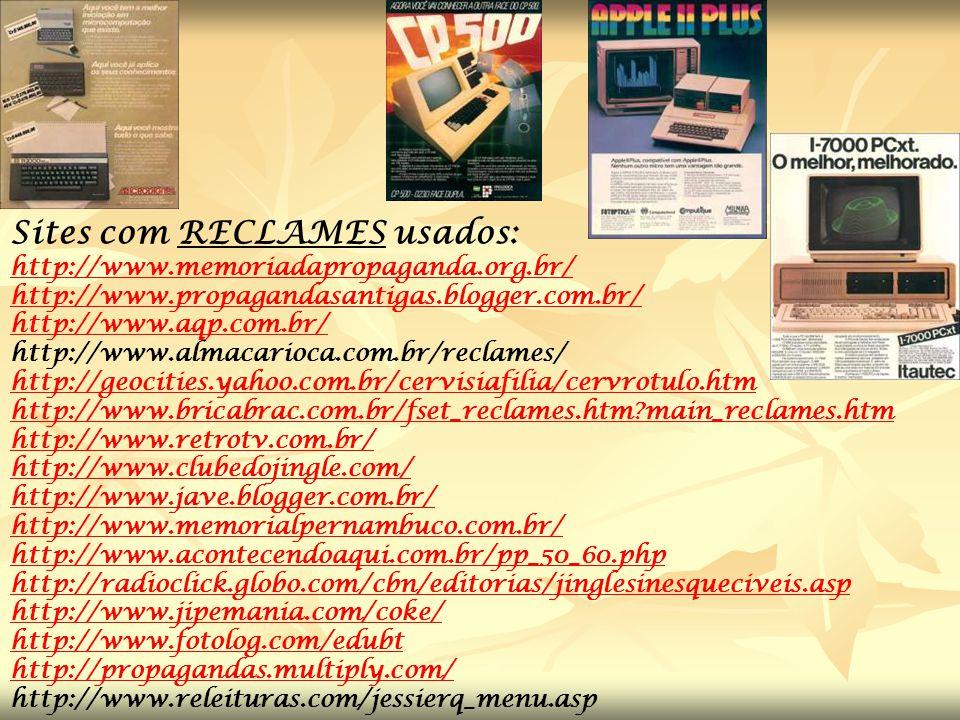 Sites com RECLAMES usados: