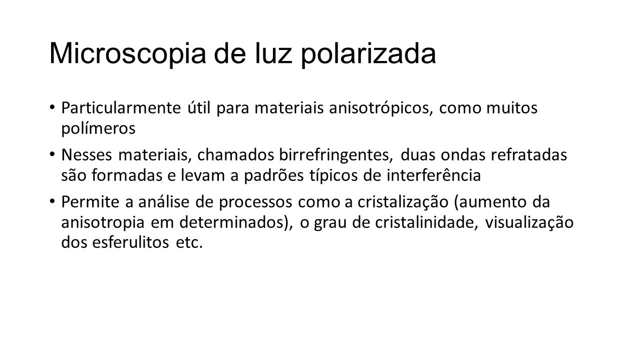 Microscopia de luz polarizada