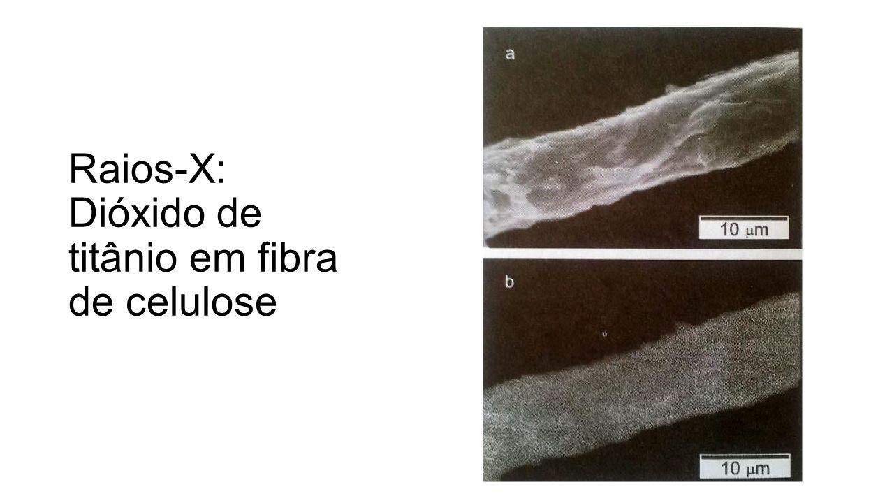 Raios-X: Dióxido de titânio em fibra de celulose