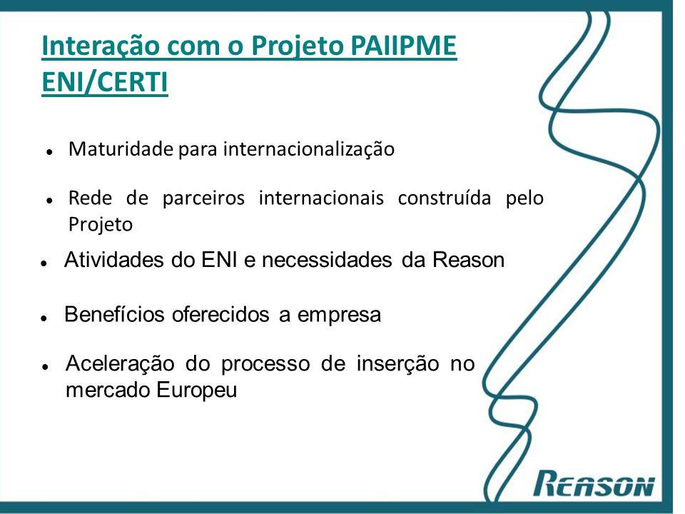 Interação com o Projeto PAIIPME ENI/CERTI
