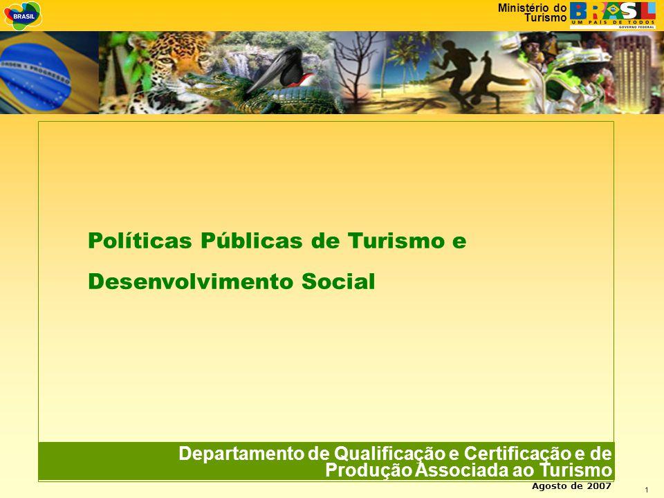 Políticas Públicas de Turismo e Desenvolvimento Social