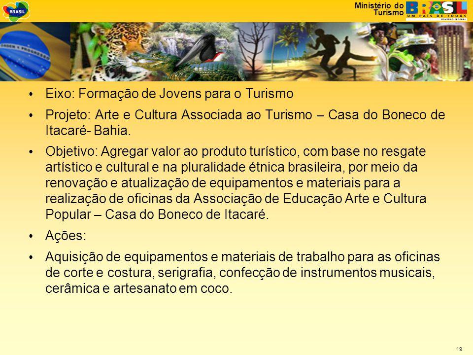 Eixo: Formação de Jovens para o Turismo