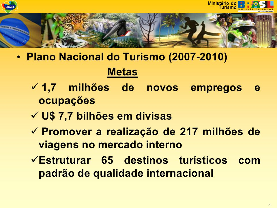 Plano Nacional do Turismo (2007-2010)