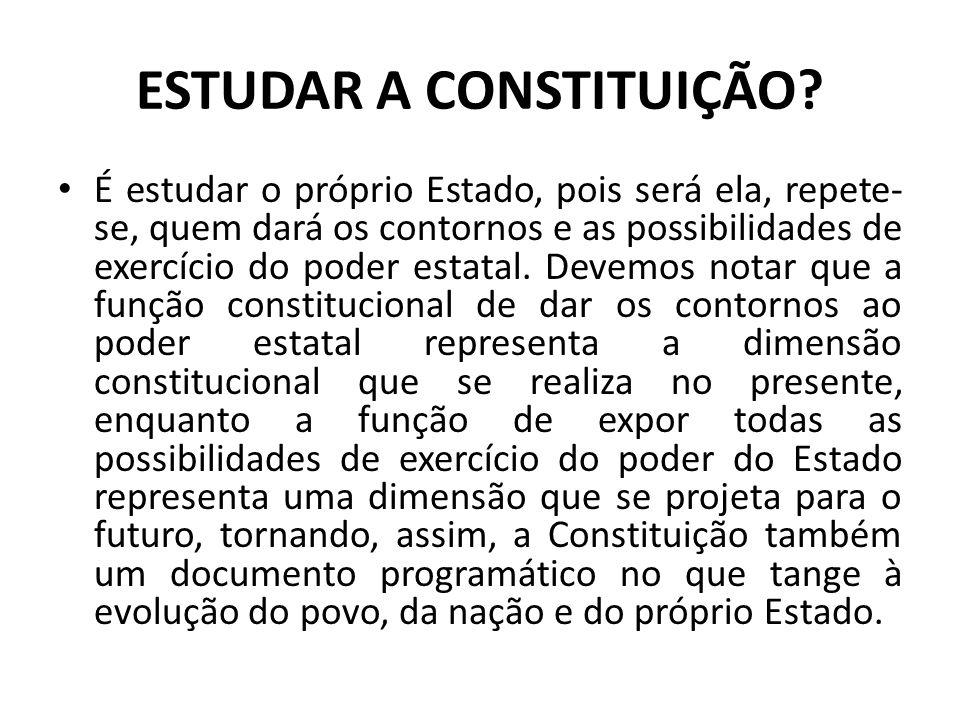 ESTUDAR A CONSTITUIÇÃO