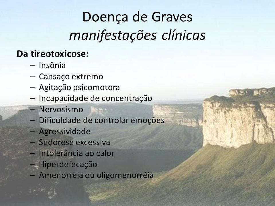 Doença de Graves manifestações clínicas