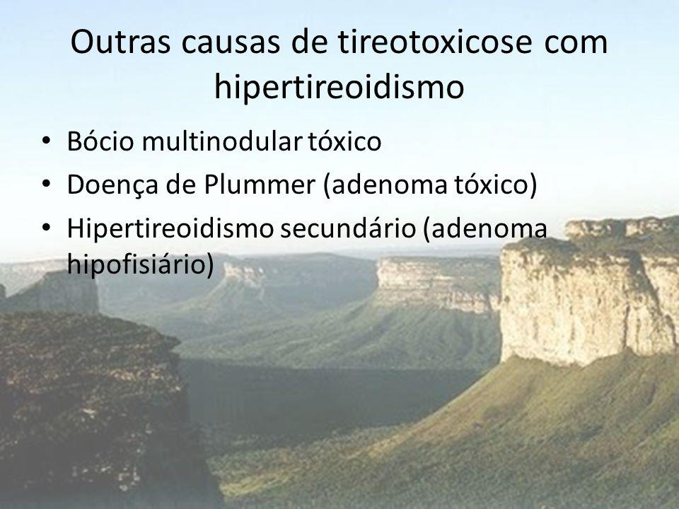 Outras causas de tireotoxicose com hipertireoidismo
