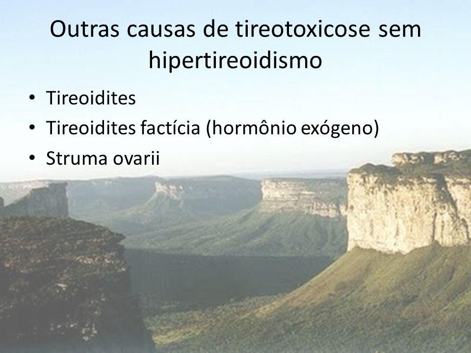 Outras causas de tireotoxicose sem hipertireoidismo