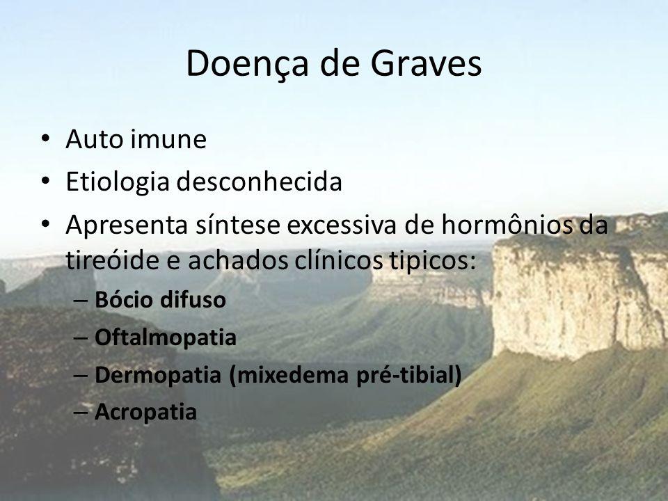 Doença de Graves Auto imune Etiologia desconhecida