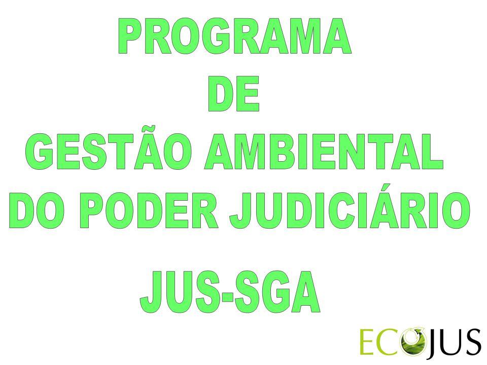 PROGRAMA DE GESTÃO AMBIENTAL DO PODER JUDICIÁRIO JUS-SGA