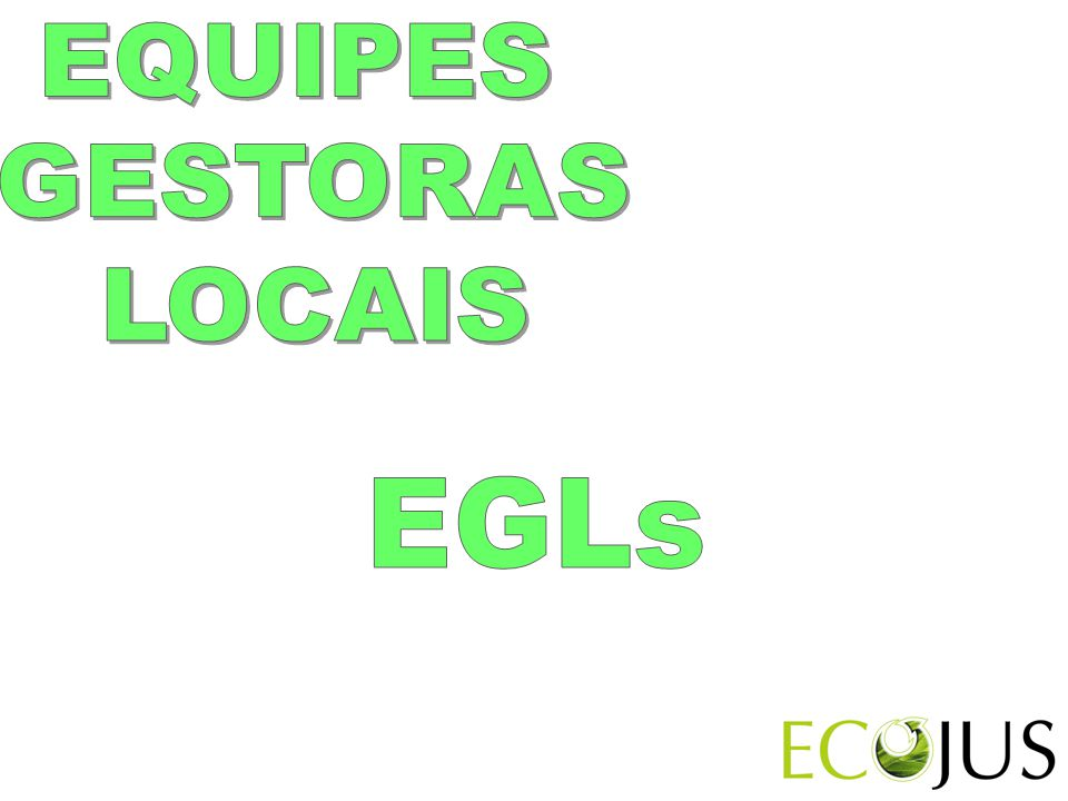 EQUIPES GESTORAS LOCAIS EGLs