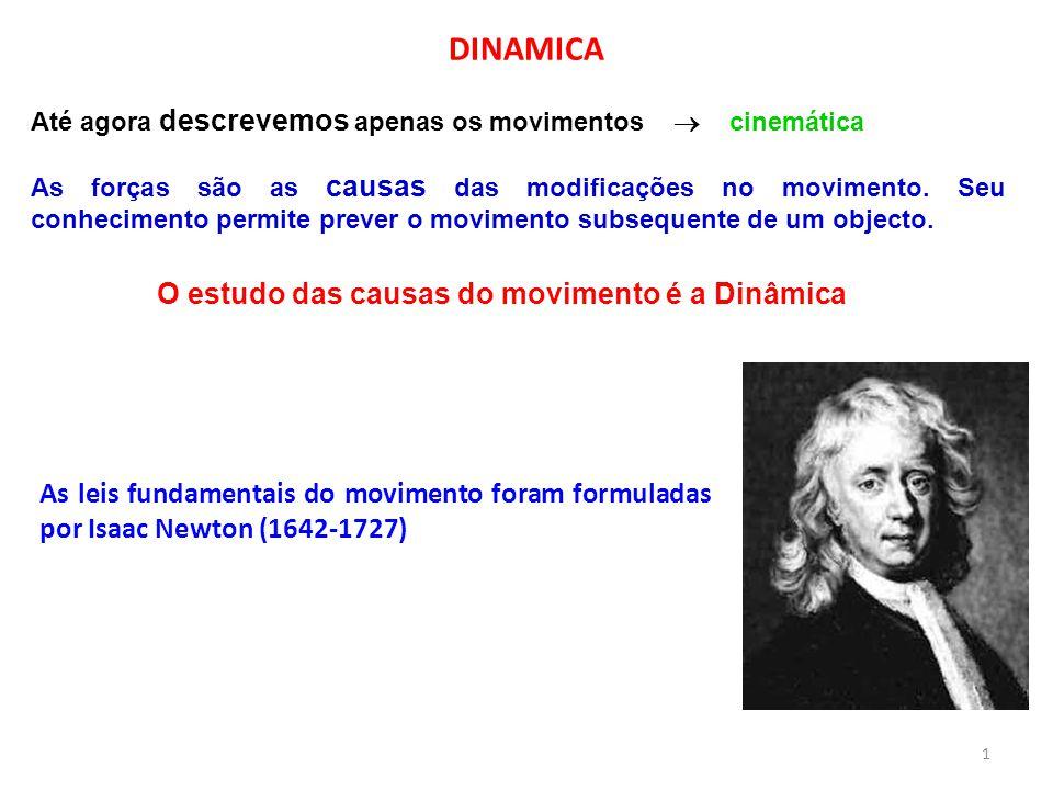 O estudo das causas do movimento é a Dinâmica