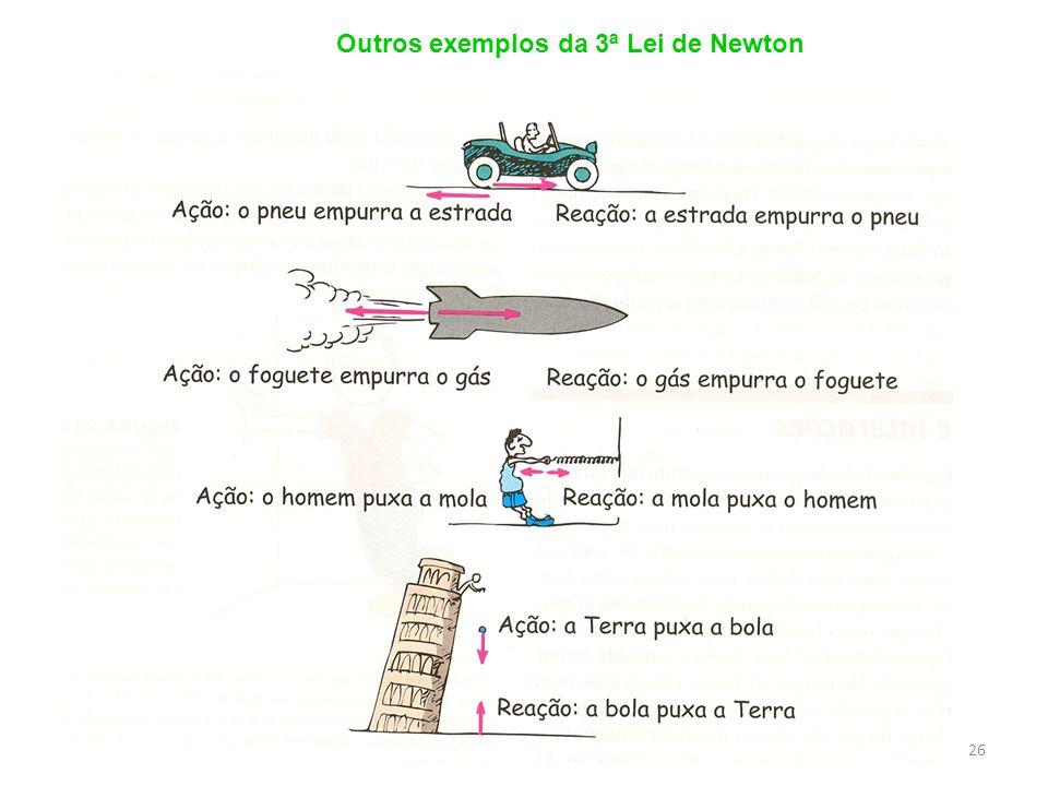 Outros exemplos da 3ª Lei de Newton
