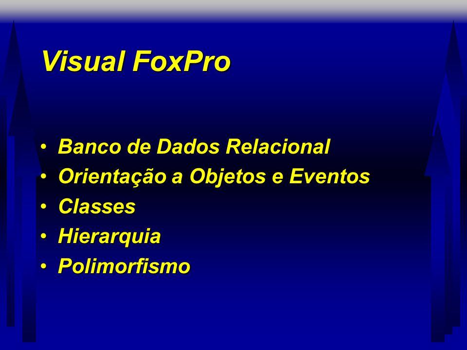 Visual FoxPro Banco de Dados Relacional Orientação a Objetos e Eventos