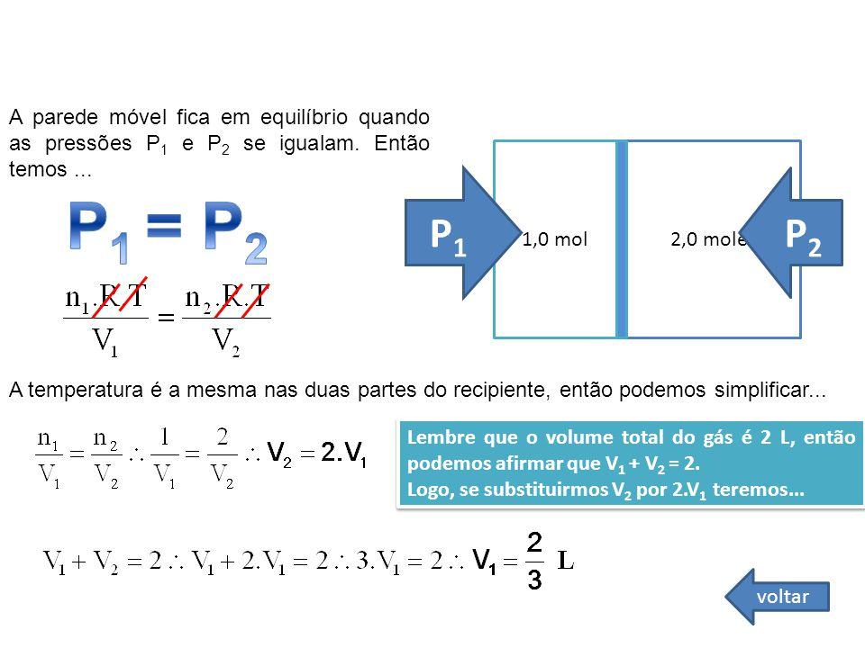 P1 = P2 P1 P2 FÍSICA - 2º ano do Ensino Médio Lei Geral dos Gases