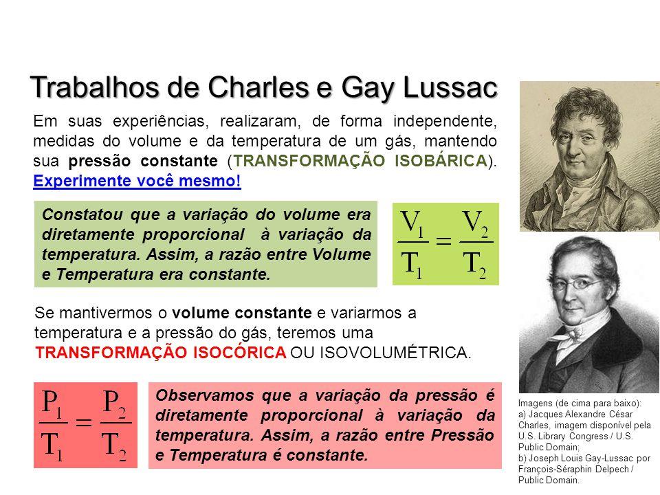 Trabalhos de Charles e Gay Lussac