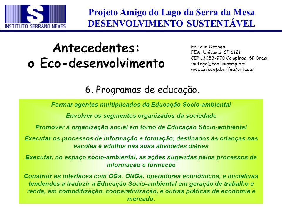 o Eco-desenvolvimento