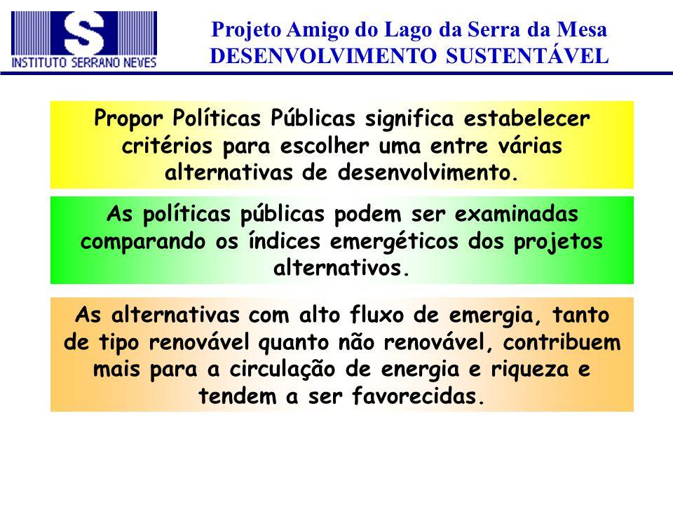 Projeto Amigo do Lago da Serra da Mesa DESENVOLVIMENTO SUSTENTÁVEL
