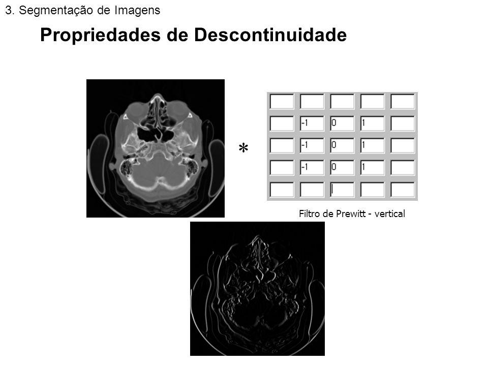  Propriedades de Descontinuidade 3. Segmentação de Imagens