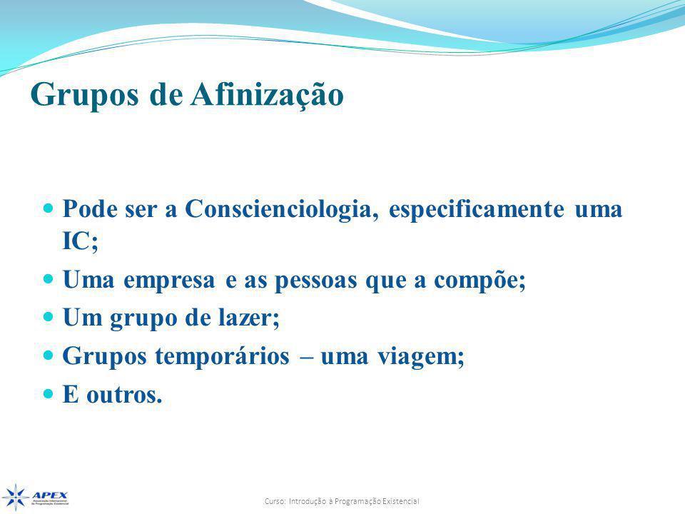 Grupos de Afinização Pode ser a Conscienciologia, especificamente uma IC; Uma empresa e as pessoas que a compõe;
