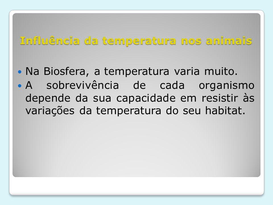 Influência da temperatura nos animais