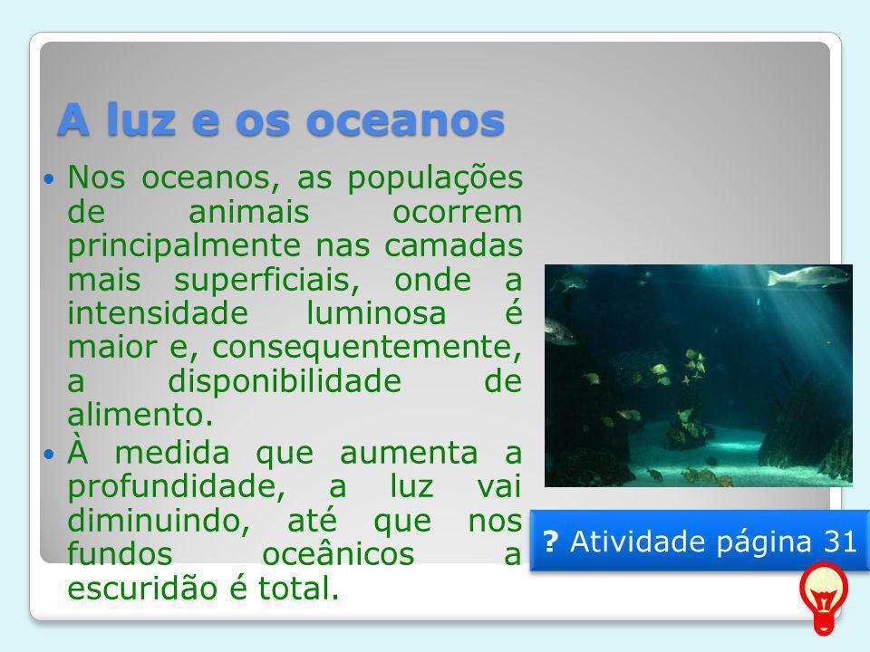 A luz e os oceanos
