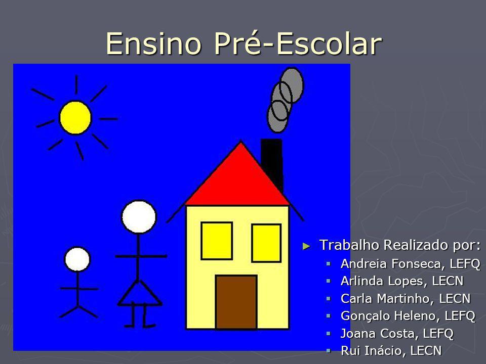 Ensino Pré-Escolar Trabalho Realizado por: Andreia Fonseca, LEFQ