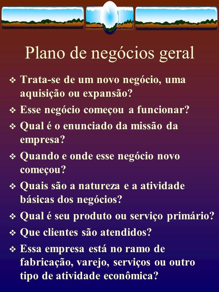 Plano de negócios geral