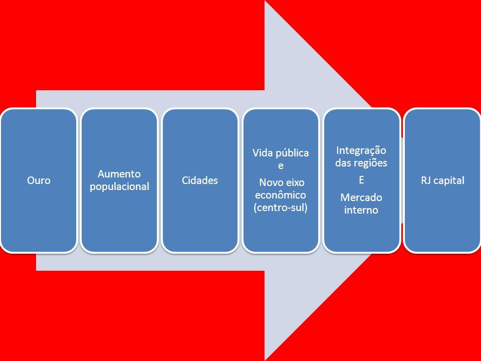 Novo eixo econômico (centro-sul) Integração das regiões E