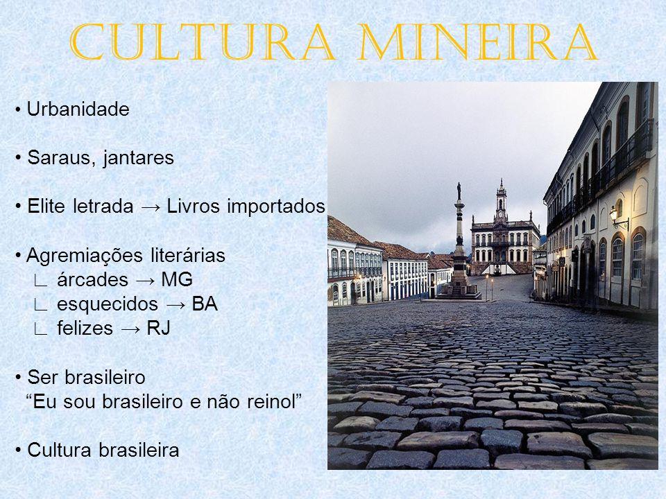 CULTURA MINEIRA • Saraus, jantares • Elite letrada → Livros importados
