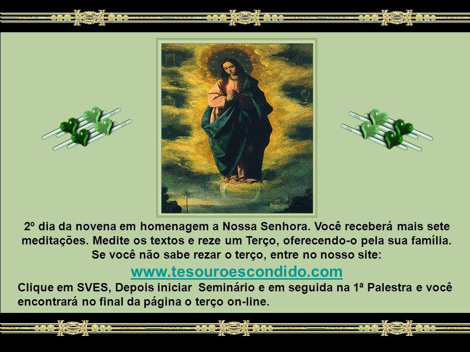 2º dia da novena em homenagem a Nossa Senhora