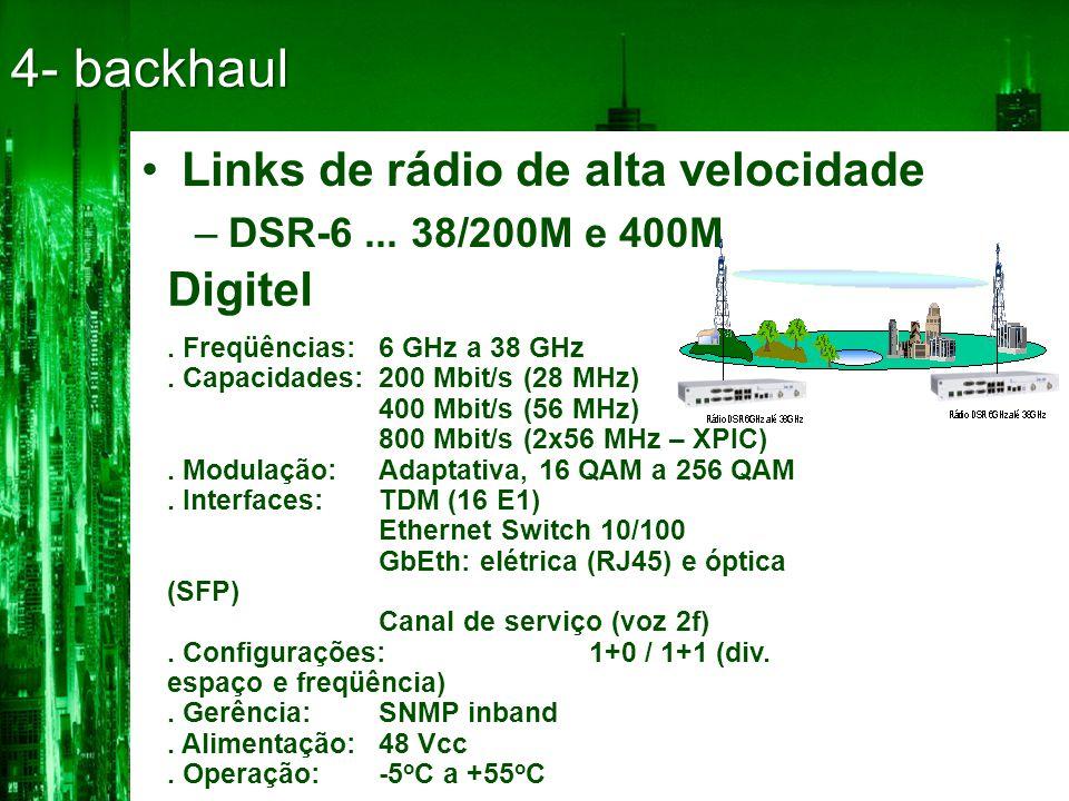 4- backhaul Links de rádio de alta velocidade Digitel