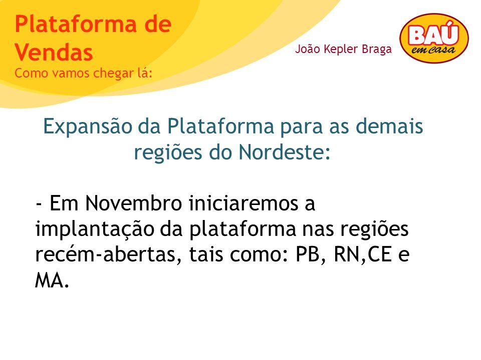 Expansão da Plataforma para as demais regiões do Nordeste: