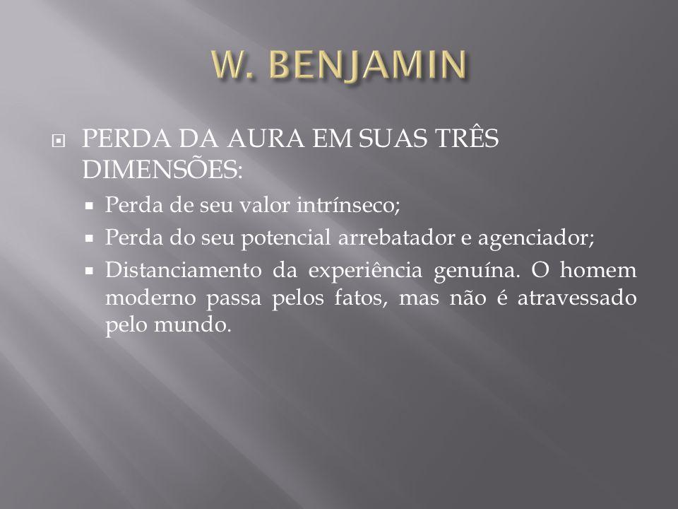 W. BENJAMIN PERDA DA AURA EM SUAS TRÊS DIMENSÕES: