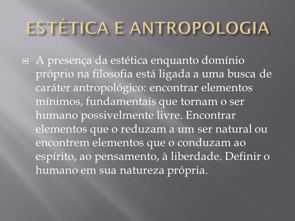ESTÉTICA E ANTROPOLOGIA