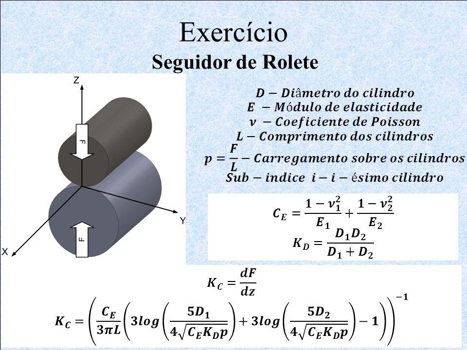 Exercício Seguidor de Rolete 𝑫−𝑫𝒊â𝒎𝒆𝒕𝒓𝒐 𝒅𝒐 𝒄𝒊𝒍𝒊𝒏𝒅𝒓𝒐
