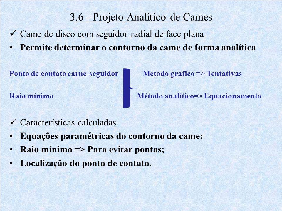 3.6 - Projeto Analítico de Cames