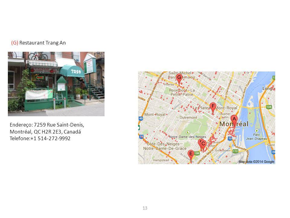 (G) Restaurant Trang An